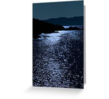 tranquil rocky kerry starry night view Greeting Card