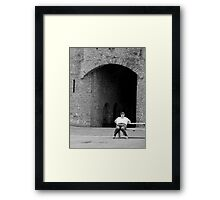 Taking the weight off... Framed Print
