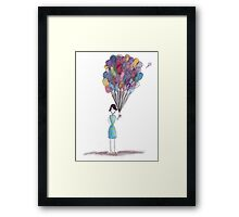 Balloon Girl Framed Print