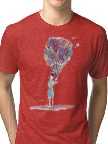 Balloon Girl Tri-blend T-Shirt