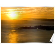 Lights Beach Sunset  Poster