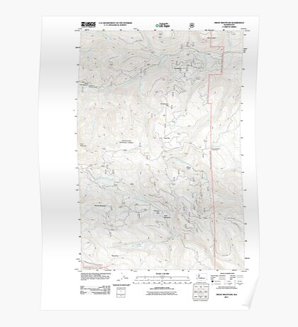 USGS Topo Map Washington State WA Frost Mountain 20110601 TM Poster