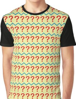 Question Mark Pullover - Pattern Graphic T-Shirt