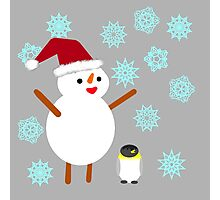 Snowman and Penguin Photographic Print