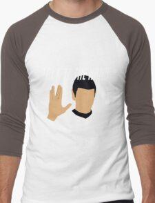 Talk to the Vulcan Hand Men's Baseball ¾ T-Shirt