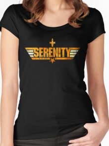 Top Serenity (Orange-Gold) Women's Fitted Scoop T-Shirt