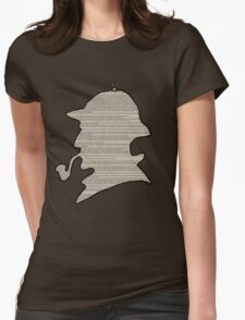 Sherlock Newspaper Silhouette  Womens Fitted T-Shirt