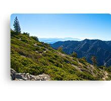 Mt. Baldy - Blue Cloud Layer Canvas Print