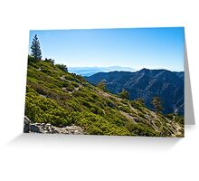 Mt. Baldy - Blue Cloud Layer Greeting Card