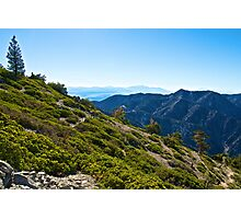 Mt. Baldy - Blue Cloud Layer Photographic Print