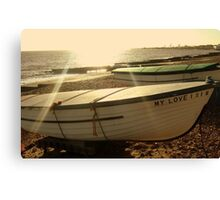 If I had a boat, I would sail to you. Canvas Print