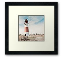Sankaty Head Lighthouse on the island of Nantucket MA Framed Print