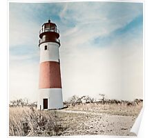 Sankaty Head Lighthouse on the island of Nantucket MA Poster