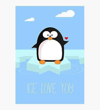 Ice love you Photographic Print