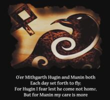 Odin's Raven Muninn by TheCroc1979