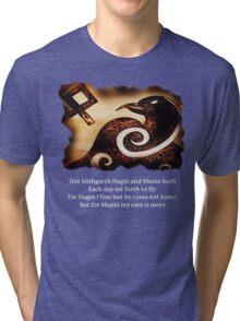 Odin's Raven Muninn Tri-blend T-Shirt