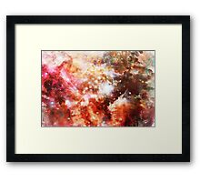 Abstract Watercolor Space Framed Print
