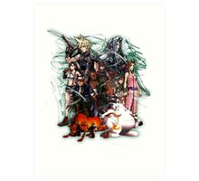Final Fantasy VII - Collage Art Print
