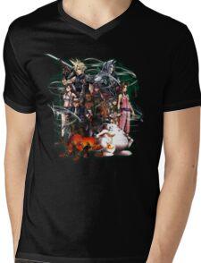 Final Fantasy VII - Collage Mens V-Neck T-Shirt