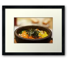 Korean Rice Bowl Framed Print