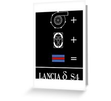Forced Induction Equation (White) Greeting Card