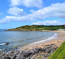 Langland Bay, Gower by Paula J James