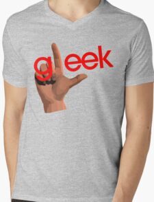 Gleek Mens V-Neck T-Shirt