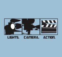 Lights.Camera.Action. Movie Maker T-Shirt Kids Tee