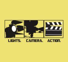 Lights.Camera.Action. Movie Maker T-Shirt One Piece - Short Sleeve