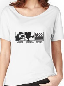 Lights.Camera.Action. Movie Maker T-Shirt Women's Relaxed Fit T-Shirt