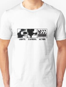 Lights.Camera.Action. Movie Maker T-Shirt T-Shirt