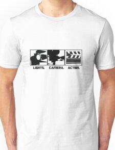 Lights.Camera.Action. Movie Maker T-Shirt Unisex T-Shirt