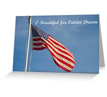 American Flag Patriot Dream  Greeting Card
