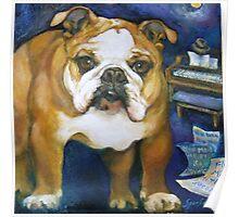 Bulldog Frankie Sinatra Poster