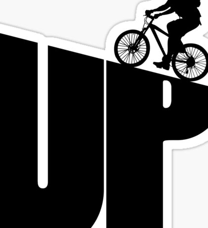 Mountain Bike Rider Cycling Sticker