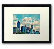 Welcome to Atlanta, Georgia Framed Print