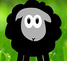 Sheep in the Grass by OneBlackSheep