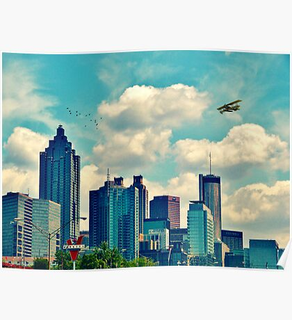 Atlanta Georgia Skyline 2012 Poster