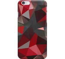 Abstract red and gray triangles iPhone Case/Skin