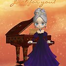 Piano Birthday Greeting Card Birthday Wishes Just For You by Moonlake