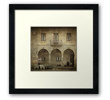 Jazz in the old town Framed Print
