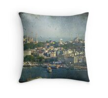 The beating of Istanbul Throw Pillow