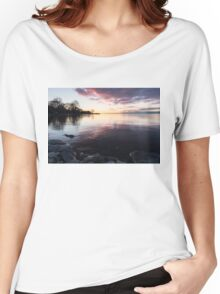 A Great Meditation Spot - Lake Ontario Cove in the Morning Women's Relaxed Fit T-Shirt