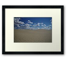 Sand Dune and Blue Sky Framed Print