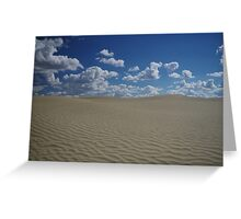 Sand Dune and Blue Sky Greeting Card