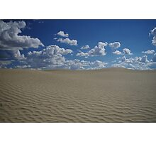 Sand Dune and Blue Sky Photographic Print