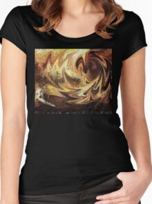 Terrestrial Brush Strokes  Women's Fitted Scoop T-Shirt