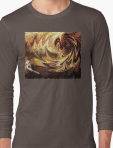 Terrestrial Brush Strokes  Long Sleeve T-Shirt