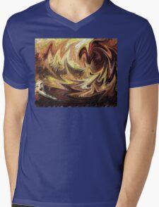 Terrestrial Brush Strokes  Mens V-Neck T-Shirt