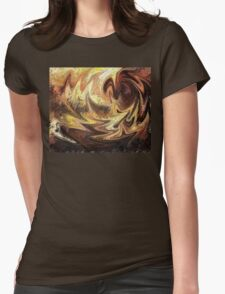 Terrestrial Brush Strokes  Womens Fitted T-Shirt